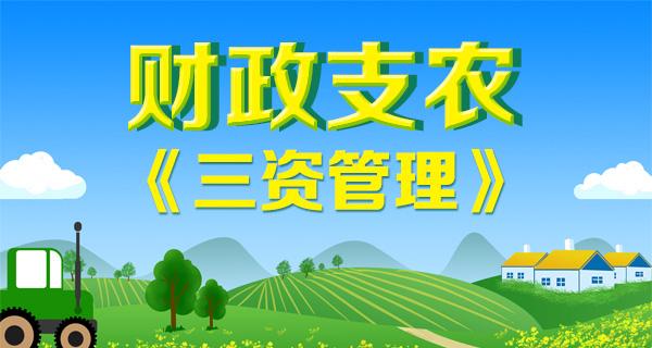 财政支农——三资管理