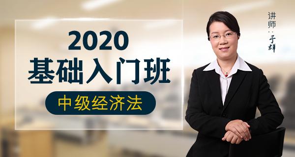 2020中级经济法-基础入门班